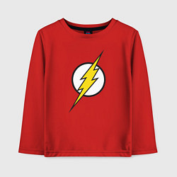Лонгслив хлопковый детский Flash цвета красный — фото 1