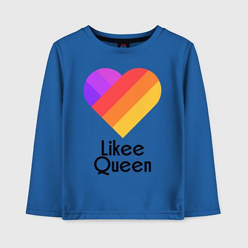 Детский лонгслив Likee Queen / Синий – фото 1