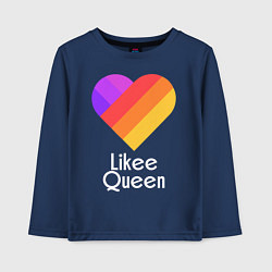 Лонгслив хлопковый детский Likee Queen цвета тёмно-синий — фото 1
