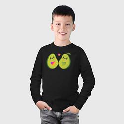 Лонгслив хлопковый детский Авокадо Likee цвета черный — фото 2