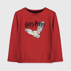 Лонгслив хлопковый детский Гарри Поттер: Букля цвета красный — фото 1