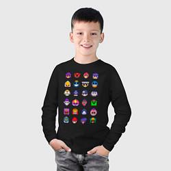 Лонгслив хлопковый детский BRAWL STARS цвета черный — фото 2