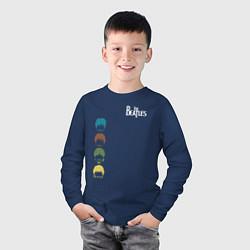 Лонгслив хлопковый детский Beatles цвета тёмно-синий — фото 2