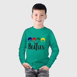 Лонгслив хлопковый детский The Beatles Heads цвета зеленый — фото 2
