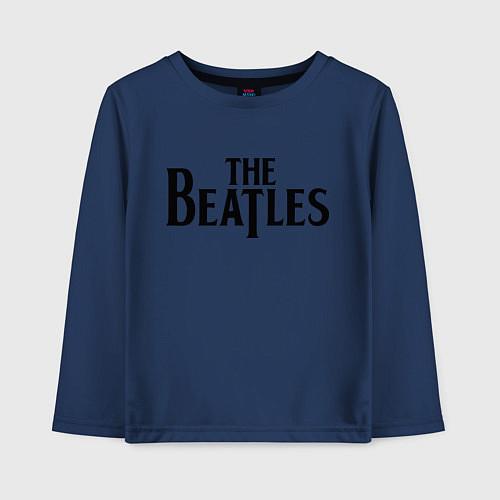 Детский лонгслив The Beatles / Тёмно-синий – фото 1