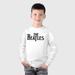 Лонгслив хлопковый детский The Beatles цвета белый — фото 2