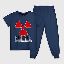 Пижама хлопковая детская STALKER: Shadow of Chernobyl цвета тёмно-синий — фото 1