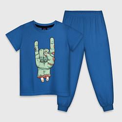 Пижама хлопковая детская Zombie Rock Hand цвета синий — фото 1