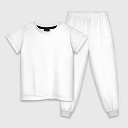 Пижама хлопковая детская Lil Wayne цвета белый — фото 1