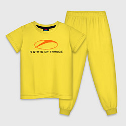 Пижама хлопковая детская A State of Trance цвета желтый — фото 1