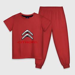 Пижама хлопковая детская Citroen цвета красный — фото 1
