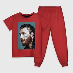 Пижама хлопковая детская Том Харди Ван Гога цвета красный — фото 1