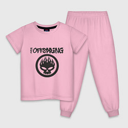 Пижама хлопковая детская The Offspring цвета светло-розовый — фото 1