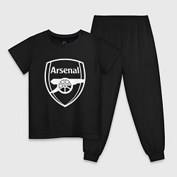Пижама хлопковая детская FC Arsenal цвета черный — фото 1