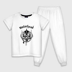 Пижама хлопковая детская Motrhead: Black Devil цвета белый — фото 1