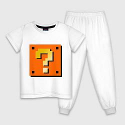 Пижама хлопковая детская Mario box цвета белый — фото 1