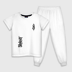 Пижама хлопковая детская Slipknot Music цвета белый — фото 1