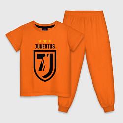 Пижама хлопковая детская Juventus 7J цвета оранжевый — фото 1
