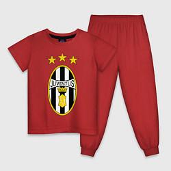 Пижама хлопковая детская Ювентус цвета красный — фото 1