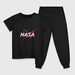 Пижама хлопковая детская NASA: Space Arrow цвета черный — фото 1
