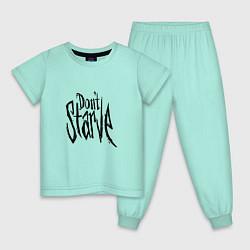 Пижама хлопковая детская Don't Starve цвета мятный — фото 1