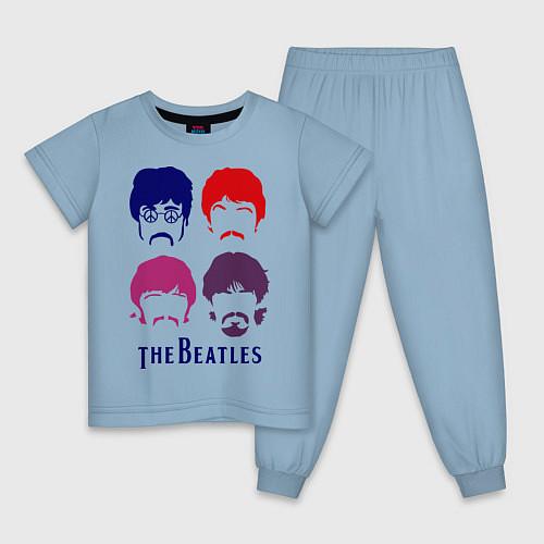 Детская пижама The Beatles faces / Мягкое небо – фото 1