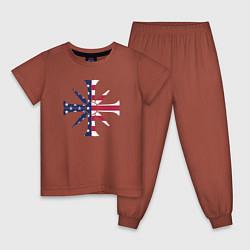 Пижама хлопковая детская Far Cry 5: USA Cult цвета кирпичный — фото 1