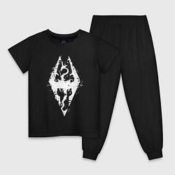 Пижама хлопковая детская TES Dragon цвета черный — фото 1