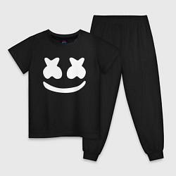 Пижама хлопковая детская Marshmello цвета черный — фото 1