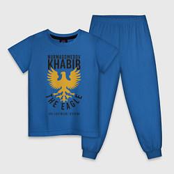 Пижама хлопковая детская Khabib: The Eagle цвета синий — фото 1