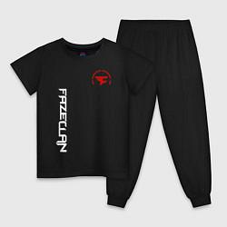 Пижама хлопковая детская FaZe Clan: E-Sports цвета черный — фото 1