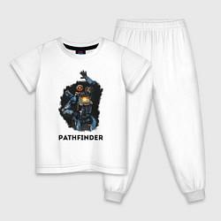 Пижама хлопковая детская Apex Legends: Pathfinder цвета белый — фото 1