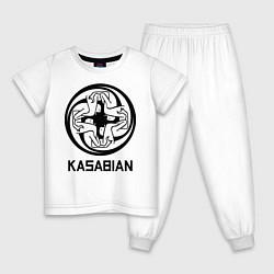 Пижама хлопковая детская Kasabian: Symbol цвета белый — фото 1