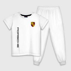 Пижама хлопковая детская PORSCHE цвета белый — фото 1
