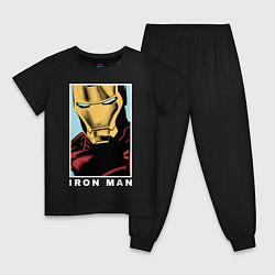 Пижама хлопковая детская Iron Man цвета черный — фото 1