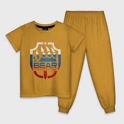 Пижама хлопковая детская Escape from Tarkov BEAR цвета горчичный — фото 1