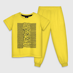 Пижама хлопковая детская Joy Division: What the fuck цвета желтый — фото 1