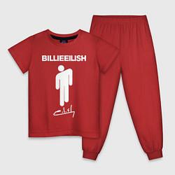 Пижама хлопковая детская BILLIE EILISH цвета красный — фото 1
