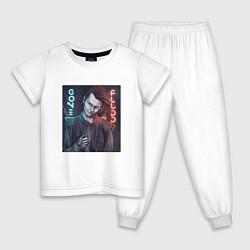 Пижама хлопковая детская GONE Fludd цвета белый — фото 1