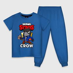 Пижама хлопковая детская BRAWL STARS CROW цвета синий — фото 1