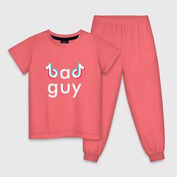 Пижама хлопковая детская TIK TOK цвета коралловый — фото 1