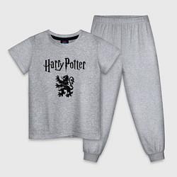 Пижама хлопковая детская Гарри Поттер цвета меланж — фото 1