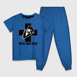 Пижама хлопковая детская Metal Gear Solid цвета синий — фото 1