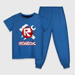 Пижама хлопковая детская ROBLOX цвета синий — фото 1