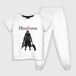 Пижама хлопковая детская Bloodborne цвета белый — фото 1