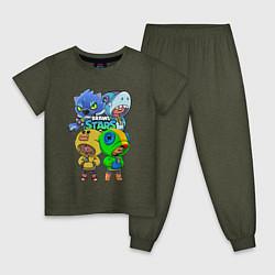 Детская пижама Brawl Stars Leon Quattro