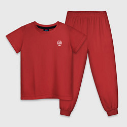 Пижама хлопковая детская Escape from Tarkov спина Z цвета красный — фото 1
