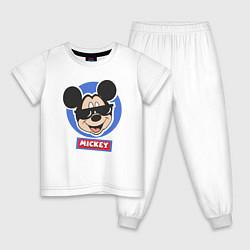 Пижама хлопковая детская Микки цвета белый — фото 1