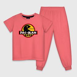 Пижама хлопковая детская PAC-MAN цвета коралловый — фото 1