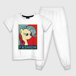 Пижама хлопковая детская Trixie Fashion цвета белый — фото 1